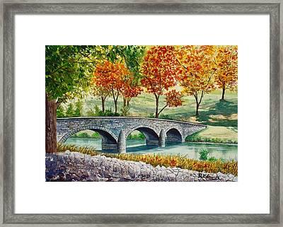 Burnside Bridge, Battle Of Antietam Framed Print by Raymond Edmonds