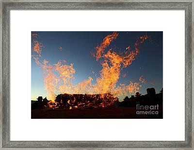 Burnt Offerings Framed Print by James Brunker