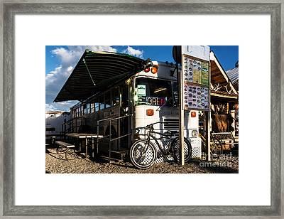 Burrito Bus Framed Print by Mel Steinhauer