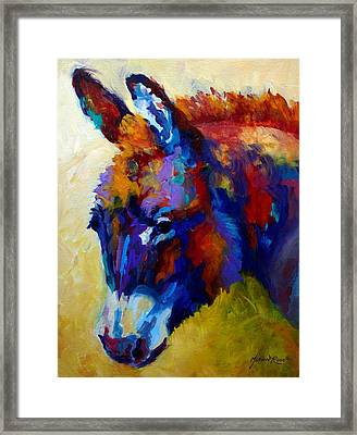 Burro II Framed Print by Marion Rose