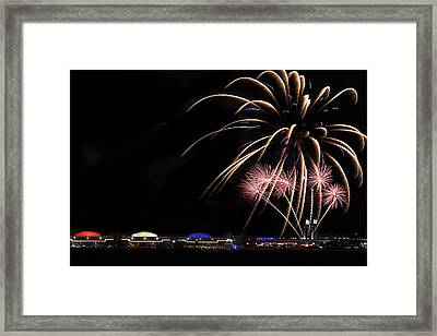 Burst Of Fireworks Framed Print by Andrew Soundarajan