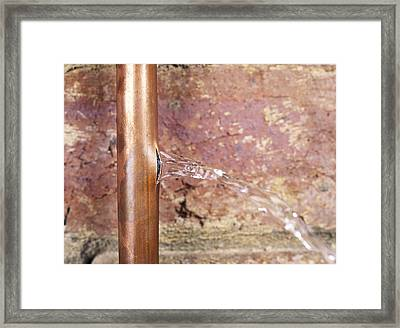 Burst Water Pipe Framed Print by Andrew Lambert Photography