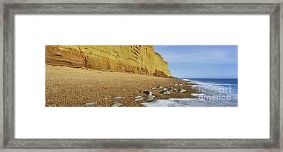 Burton Bradstock Beach Framed Print by Rod McLean
