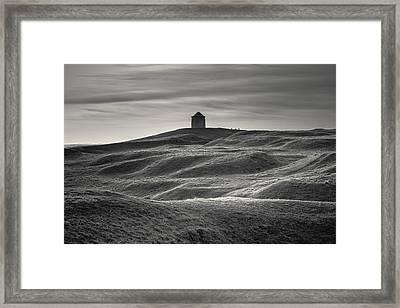 Burton Dassett Monochrome Framed Print by Chris Fletcher