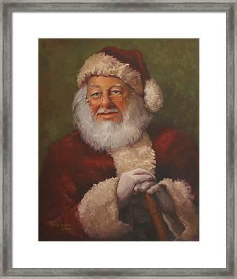 Burts Santa Framed Print by Vicky Gooch