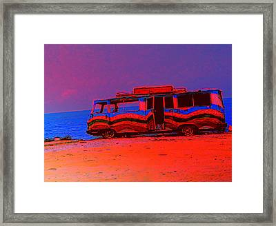 Our Bus Stopped Here Years Ago And Then We Just Stayed  Framed Print by Hilde Widerberg