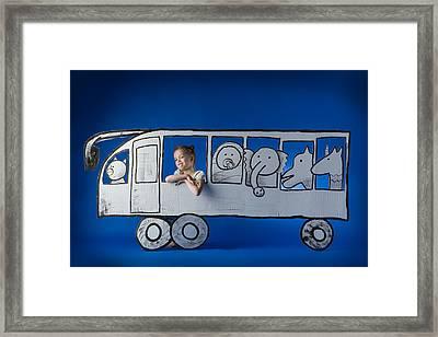 Bus Game Framed Print by Eva Miliuniene