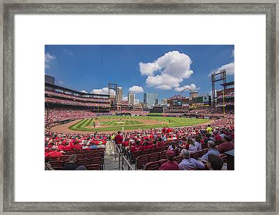 Busch Stadium St. Louis Cardinals Cardinal Nation Ballpark Village Day #2a Framed Print by David Haskett