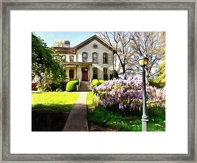 The Bush House Framed Print by Thom Zehrfeld