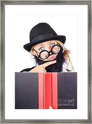 Business Research And Education Framed Print by Jorgo Photography - Wall Art Gallery