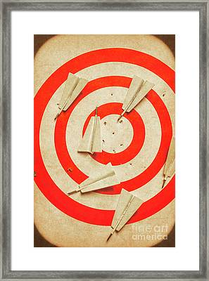 Business Target Practice Framed Print by Jorgo Photography - Wall Art Gallery