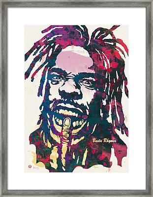 Busta Rhymes Pop Art Poster Framed Print by Kim Wang