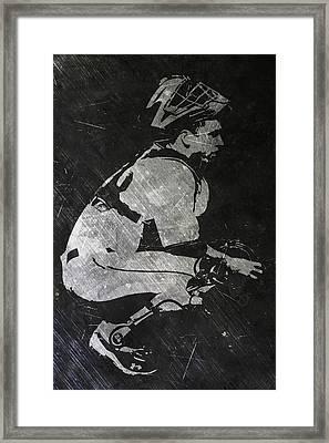 Buster Posey San Francisco Giants Art Framed Print by Joe Hamilton