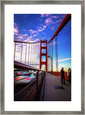 Busy Bay Bridge Framed Print by Phil Fitzgerald