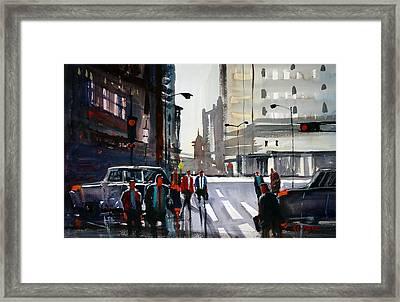 Busy City - Chicago Framed Print by Ryan Radke