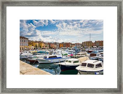 Busy Day On Marina Framed Print by Svetlana Sewell