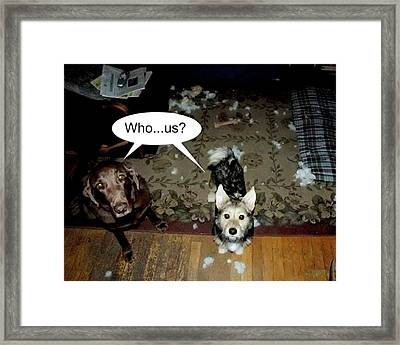 But Dad... Framed Print by Ross Powell