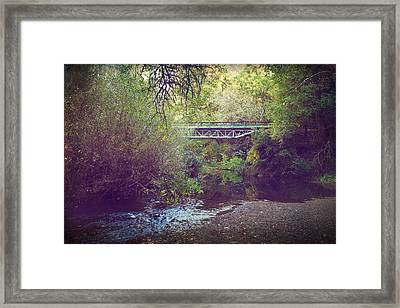 But You're Not Really Here Framed Print by Laurie Search