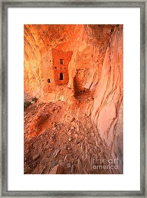 Butler Wash Ruins Framed Print by Adam Jewell