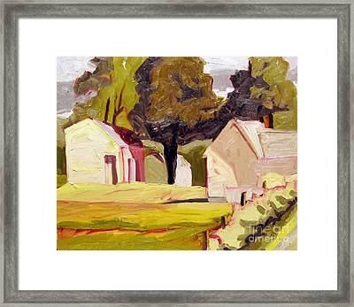 Butter Sunshine Plein Air Framed Framed Print by Charlie Spear