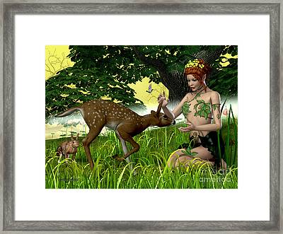 Buttercup Fairy And Forest Friends Framed Print by Corey Ford
