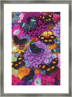 Butterflies And Flowers 2 Framed Print by JQ Licensing