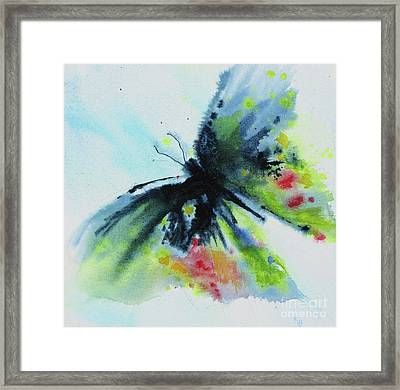 Butterfly 1 Framed Print by Karen Fleschler