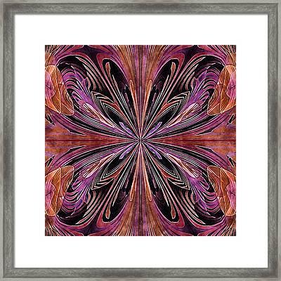 Butterfly Art Nouveau Framed Print by Susan Maxwell Schmidt