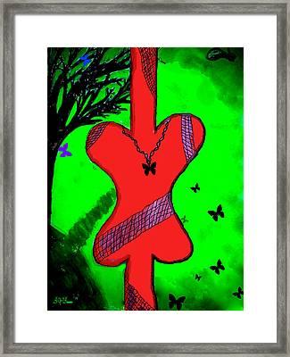 Butterfly Framed Print by Aya Wafi