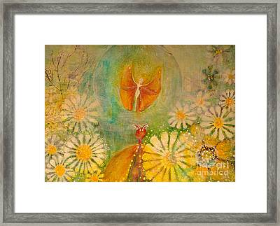 Butterfly Courtship Dance Framed Print by Art by Ela