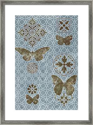 Butterfly Deco 1 Framed Print by JQ Licensing