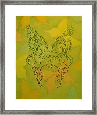 Butterfly Face Framed Print by Megan Howard