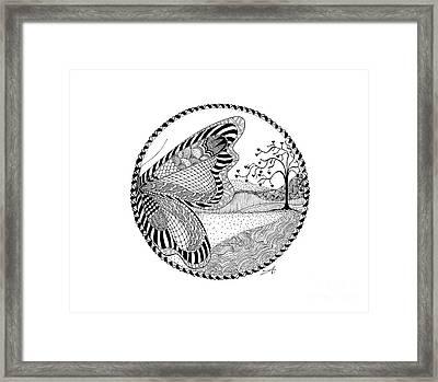 Butterfly Fantasy Framed Print by Ana V Ramirez