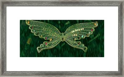 Butterfly Fascination Framed Print by Anne-Elizabeth Whiteway