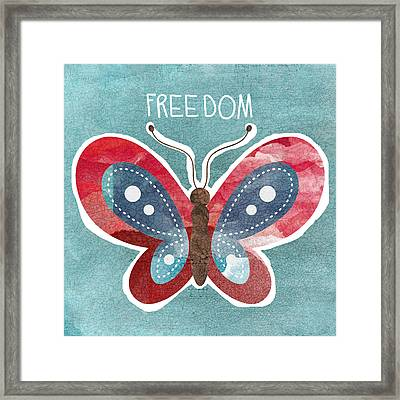 Butterfly Freedom Framed Print by Linda Woods