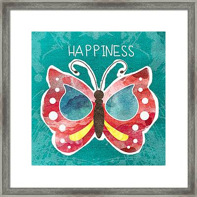 Butterfly Happiness Framed Print by Linda Woods