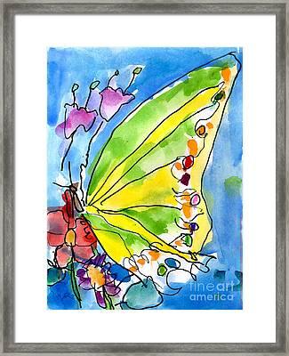 Butterfly Framed Print by Jeffrey Shutt Age Six