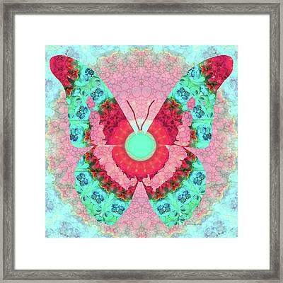 Butterfly Mandala 3 Art By Sharon Cummings Framed Print by Sharon Cummings