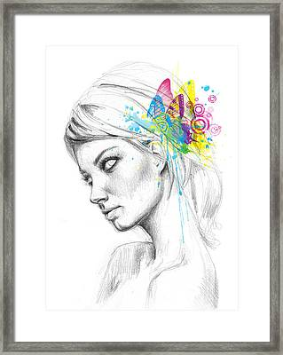 Butterfly Queen Framed Print by Olga Shvartsur