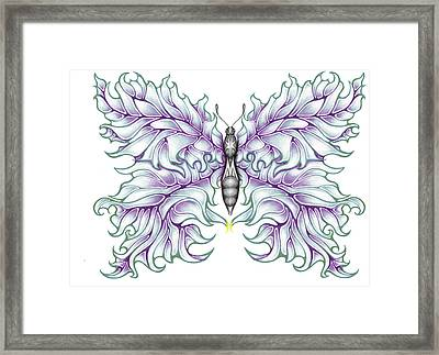 Butterfly Tattoo 2 Framed Print by Karen Musick