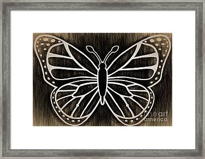 Butterfly Wisdom Framed Print by Kasia Bitner