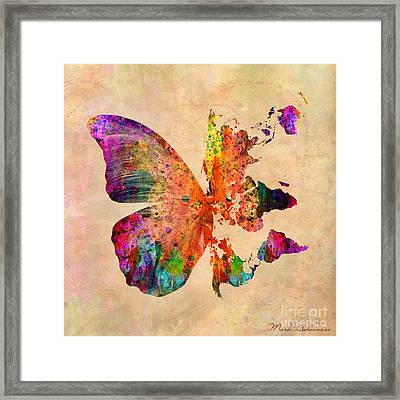 Butterfly World Map  Framed Print by Mark Ashkenazi