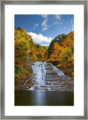 Buttermilk Falls 2 Framed Print by Mark Papke