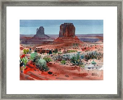Buttes Of Monument Valley Framed Print by Donald Maier