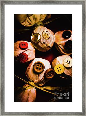 Button Sack Lollypop Monsters Framed Print by Jorgo Photography - Wall Art Gallery