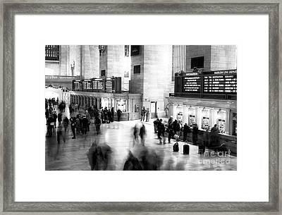Buying Tickets Framed Print by John Rizzuto