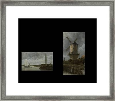 Bw 7 Van Ruisdael  Framed Print by David Bridburg