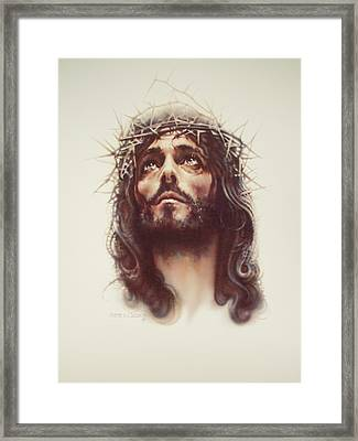 By His Wounds Framed Print by Steven Paul Carlson