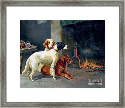 By The Fire Framed Print by Alfred Duke