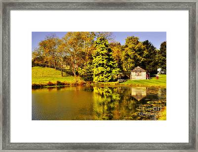 By The Pond Framed Print by Kathy Jennings